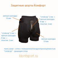 Защитные шорты для роликов и сноуборда
